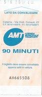 CATANIA  / A.M.T. _ Biglietto Di Corsa Semplice - Railway
