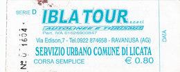 LICATA  / IBLATOUR  _ Biglietto Di Corsa Semplice - Railway