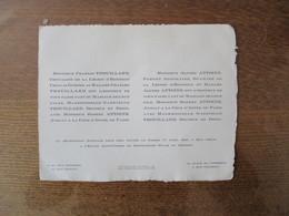 PARIS 17 AVRIL 1943 MADEMOISELLE GABRIELLE TROUILLARD AVEC MONSIEUR ROBERT ANTOINE AVOCAT A LA COUR D'APPEL DE PARIS - Wedding