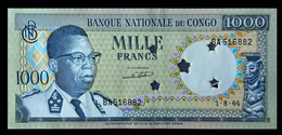 # # # Banknote Congo (Kongo) 1.000 Francs 1964 UNC- (Canceled) # # # - Kongo