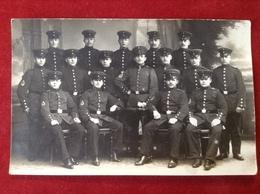Foto AK WW1 Gruppenfoto Soldaten Mit Mütze Uniform Ca. 1916 P. Heimann, Oppeln - Uniformen