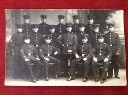 Foto AK WW1 Gruppenfoto Soldaten Mit Mütze Uniform Ca. 1916 P. Heimann, Oppeln - Uniforms
