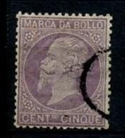 Italie - Italy - Italien Fiscaux 1861-44 Y&T N°F1 - Michel N°(?) (o) - 5c Victor Emmanuel II - 1861-78 Victor Emmanuel II.