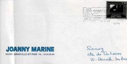 TP N° 2440 Seul Sur Enveloppe De Granville - Postmark Collection (Covers)