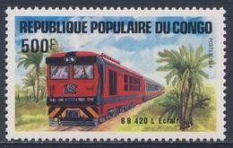 "Congo Brazzaville 1984 Mi 966 YT 729 SG 957 ** BB420 Diesel Train ""L'Eclair"" / Zug - Trains"