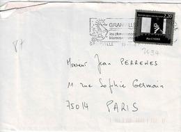 TP N° 2434 Seul Sur Enveloppe De Granville - Postmark Collection (Covers)