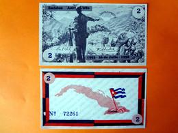 Bono Bill Billet Billete 2 Peso Cuba Kuba, Fidel Castro, Revolution 1959, Unc. - Cuba