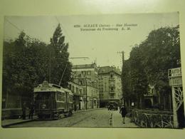 CPA,Sceaux,rue Houdan,Tramway,non écrite,très Bel état - Sceaux