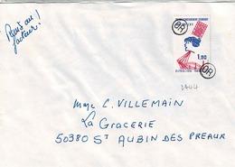 TP N° 2444 Seul Sur Enveloppe De Paris Avec Cachets OR De Complaisance Du Facteur - Postmark Collection (Covers)