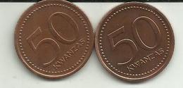 2 Moedas 50 Kwanzas 1991 Angola - Angola