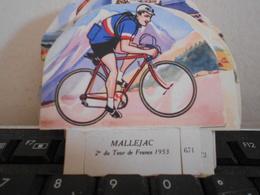LA VACHE SERIEUSE MALLEJAC CYCLISTE CYCLISME TOUR DE FRANCE VELO SPORT IMAGE CADEAU - Autres Collections