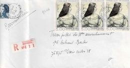 TP N° 2446en 3 Ex 4 Sur Enveloppe En Recommandé De Versailles Montreuil - Postmark Collection (Covers)