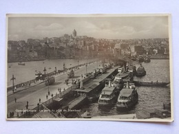 Turkey Türkei Turquie, Constantinople Istanbul, Le Pont Du Côte De Stamboul, Posted In Kingston On Thames Great Britain - Turkije
