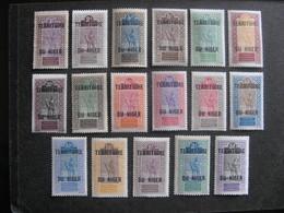 A). NIGER: Série  N° 1 Au N° 17, Neufs X . - Niger (1921-1944)