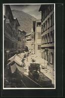 Cartolina Bolzano, Strassenansicht Mit Ständen - Bolzano (Bozen)