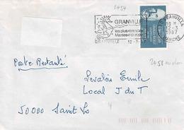 TP N° 2454 Sur Enveloppe  De  Granville Avec 2458 Au Dos - Postmark Collection (Covers)