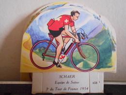 LA VACHE SERIEUSE SCHAER CYCLISTE CYCLISME TOUR DE FRANCE VELO SPORT IMAGE CADEAU - Autres Collections