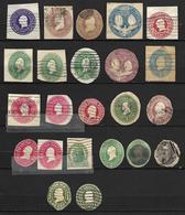 ETATS - UNIS    -   L O T  De  Découpes  D' Entiers Postaux  -  Oblitérés - Postal Stationery