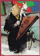 CPM  Signé Enki BILAL  Hommage à HERGE  ( Tintin Et Milou L  ( F6 - Bandes Dessinées