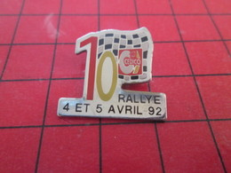 713A Pins Pin's  / Rare Et De Belle Qualité / THEME AUTOMOBILE : 10e RALLYE CEDICO AVRIL 92 - Rallye