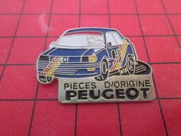713A Pins Pin's  / Rare Et De Belle Qualité / THEME AUTOMOBILE : VOITURE DE RALLYE PIECES D'ORIGINE PEUGEOT - Rallye