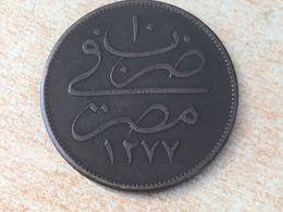 Eqypt 40 Para 1277 AH Year 10 (1869) Coin - Egypt