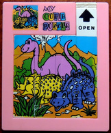 Taquin - Pousse Pousse - Grand Modèle - My Cutie Puzzle - 3 Dinosaures - Tour Rose - Casse-têtes