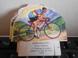 LA VACHE SERIEUSE BAHAMONTES CYCLISTE CYCLISME TOUR DE FRANCE VELO SPORT IMAGE CADEAU - Autres Collections