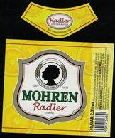 Autriche Lot 2 Etiquettes Bière Beer Labels Mohrenbräu Mohren Radler Zitrone Citron - Bière