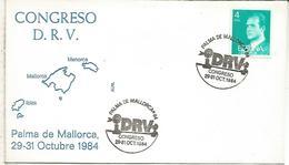 PALMA MALLORCA 1984 MAT CONGRESO DRV - 1931-Hoy: 2ª República - ... Juan Carlos I