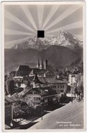 Propagandakarte Berchtesgaden Mit Dem Watzmann Swastika Sonne - 1939-45