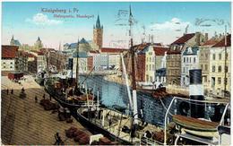 KÖNIGSBERG I. Preußen - Kaliningrad - Калининград - Hafenpartie,Hundegatt - Feldpost - Fostungs-Hilfslazarett - Ostpreussen