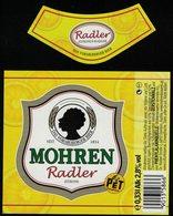 Autriche Lot 2 Etiquettes Bière Beer Labels Mohrenbräu Mohren Radler Zitrone Citron PET - Bière