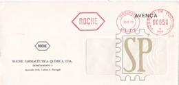 Portugal 1986 Franquia Mecânica Roche Necessidades Lisboa Ema Postmark Pharmacy Pharmacie Farmácia Slogan - Pharmazie