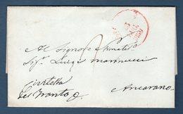 Prefilatelica  1859 Da Aquila Per Civitella Del Tronto (Ancona) - Italia