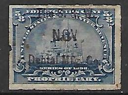 ETATS - UNIS    -   Fiscal .  1898.   Propriétary Oblitéré.  Surchargé .   Bateau - Fiscaux