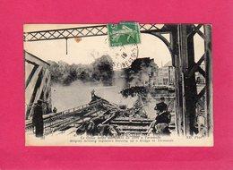 Belgique, Campagne De 1914-1915, Le Génie Belge Détruisant Un Pont à Termonde, Animée, Guerre 14-18, Militaria, (ND Phot - Guerra 1914-18