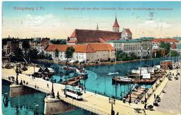 KÖNIGSBERG I. Preußen - Kaliningrad - Калининград - Holzbrücke Mit Universität - Dom Und Kneiphöfischem Gymnasium - Tram - Ostpreussen