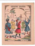 Récréations Enfantines: Le Volant Et Les Graces .  Couverture De Cahier Uniquement  XIXe - Buvards, Protège-cahiers Illustrés