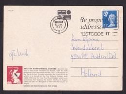 UK: PPC Picture Postcard Dundee To Netherlands, 1983, 1 Stamp, Machin, Regional Issue Scotland (minor Damage) - 1952-.... (Elizabeth II)