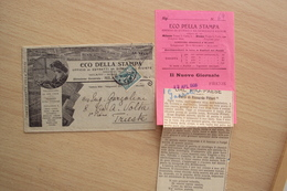 BUSTA LETTERA PUBBLICITARIA GIORNALE QUOTIDIANO ECO DELLA STAMPA MILANO ROMA PRIMI 900 - Pubblicitari
