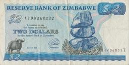 Zimbabwe / 2 Dolars / 1994 / P-1(c) / VF - Zimbabwe