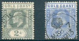 Côte De L'Or - 1907/1913 - Yt 58 Et 59 - Edouard VII - Obl. - Côte D'Or (...-1957)