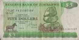 Zimbabwe / 5 Dollars / 1983 / P-2(c) / VF - Zimbabwe