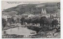 LA LOUVESC - N° 1843 - LE LAC DU GRAND LIEU ET LA VILLE - CPA NON VOYAGEE - La Louvesc