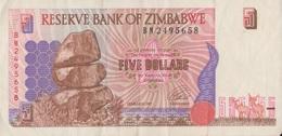 Zimbabwe / 5 Dollars / 1997 / P-5(a) / VF - Zimbabwe