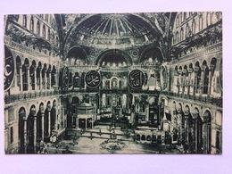 Turkey Türkei Turquie ~ 1930, Constantinople, Intérieur De La Mosquée Sainte-Sophie, Circulé, Used, Lille R.P. Nord - Turkije