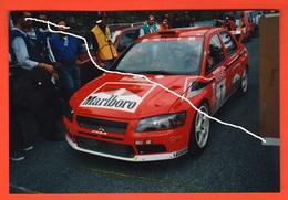 Rally Cars Mitsubischi Di Tommy Makinen Lancer Evo Rally San Remo 2001 Foto Originale - Automobili