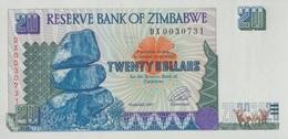 Zimbabwe / 20 Dollars / 1997 / P-7(a) / UNC - Zimbabwe