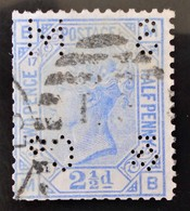 REINE VICTORIA 1875 - OBLITERE - YT 57 - TIMBRE PERFORE AUX 4 COINS - 1840-1901 (Victoria)